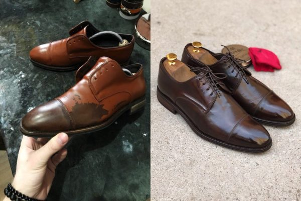 перекраска обуви