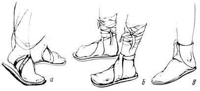 обувь древнего рима