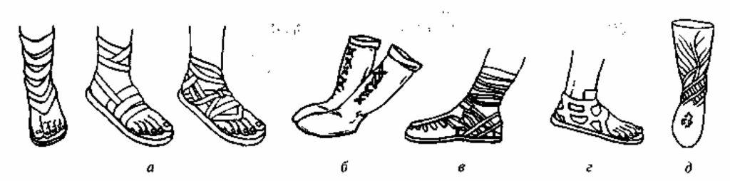 обувь древней греции